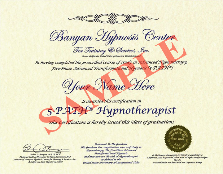 Hypnotherapy Certification - Hypnotherapy to Lose Weight