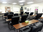 Classroom and Chairs Viewed from Back Corner