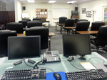 Computer Monitors and Front of Classroom
