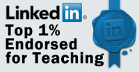 Linkedin top 1 percent endorsed for Teaching
