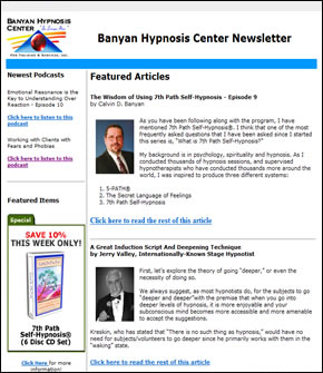 Banyan Hypnosis Center Newsletter