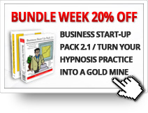 20% OFF on the Business Start-Up Pack 2.1 DVD / Turn Your Hypnosis Practice Into a Gold Mine CD