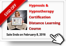 $500 OFF on Hypnosis & Hypnotherapy Certification Distance Learning Course