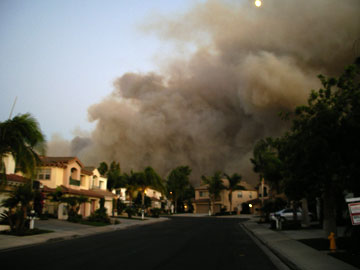 Fire Burning Near Banyan Hypnosis Center and Banyan Home