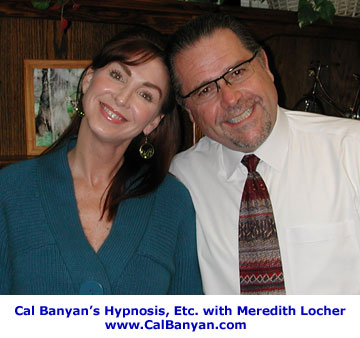 Hypnotist Cal Banyan and Meredith Locher