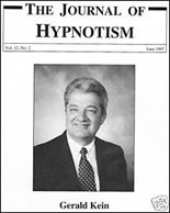 Gerald Kein in the Journal of Hypnotism