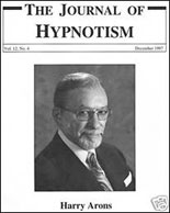 Harry Arons in the Journal of Hypnotism
