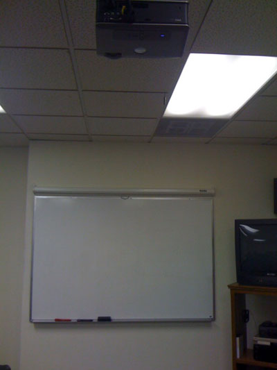 Projector in Hypnosis Training Classroom