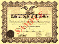 ngh approved certification hypnotist degree