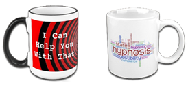 hypnosis and hypnotherapy mugs