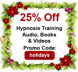 holiday special on hypnosis training audio, books, and videos