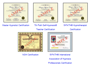 Banyan Hypnosis Certificates Sample