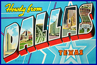 Dallas Texas Postcard on Cal Banyan Podcast #499