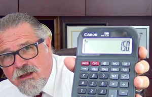 Cal Banyan in Podcast 548 holding a calculator