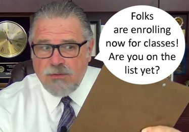 Cal Banyan on text bubble for Enrollees